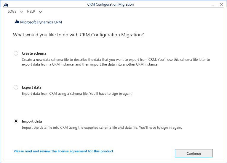 Configuration Manager Screen