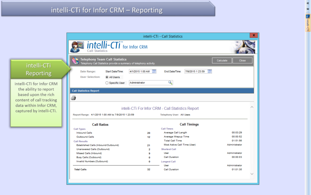 In-Call Contact Management in Infor CRM