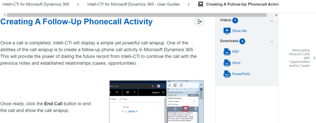 intelli-CTi for Dynamics 365 version 4.2